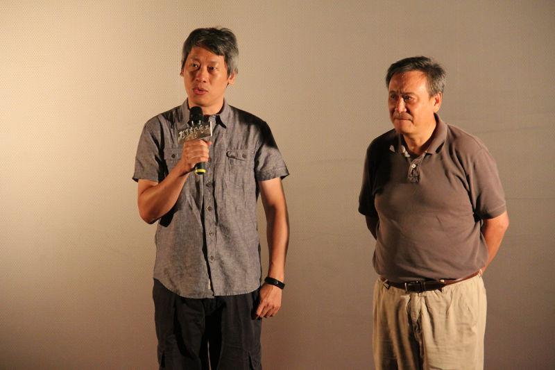 導演許明淳表示,「阿罩霧風雲」期盼提供台灣一步權威的教育參考書,而非權威的教科書,來補充台灣近代史的遺落片段,也讓上課的形式更多元豐富。(陳芷若攝)