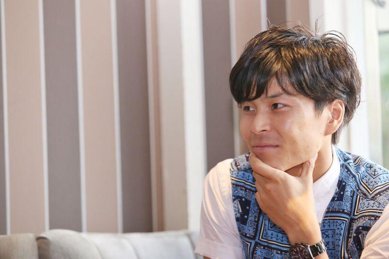 電影《阿罩霧風雲II落子》中台日混血新銳演員「大地」林睦宸,就是霧峰林家閩南軍司令林祖密的後代。(林韶安攝)