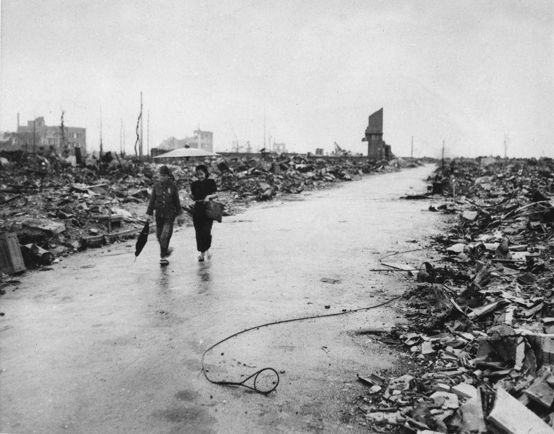 廣島在原爆後,一切都已變了樣。(美聯社)