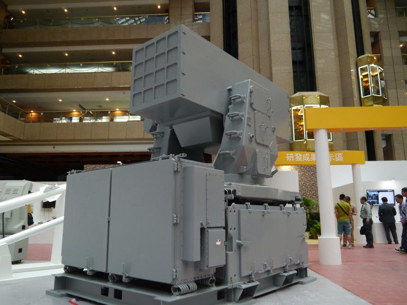 台北國際航太暨國防工業展,海劍羚飛彈射系統。(朱明攝)