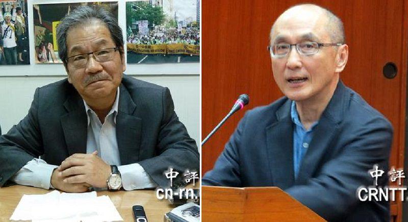 台灣人血緣多樣長相也多樣,如民進黨大老吳乃仁(左)是漢人模樣,哥哥中研院研究員吳乃德(右)則頗像南亞人。(中評社)