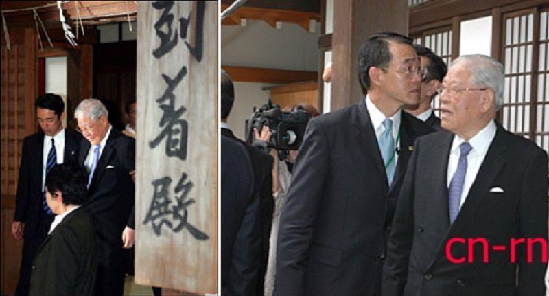 2007年,前總統李登輝參拜靖國神社。(中評社)