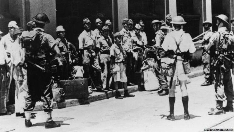 日軍佔領香港三年零八個月後,日本向同盟國無條件投降。