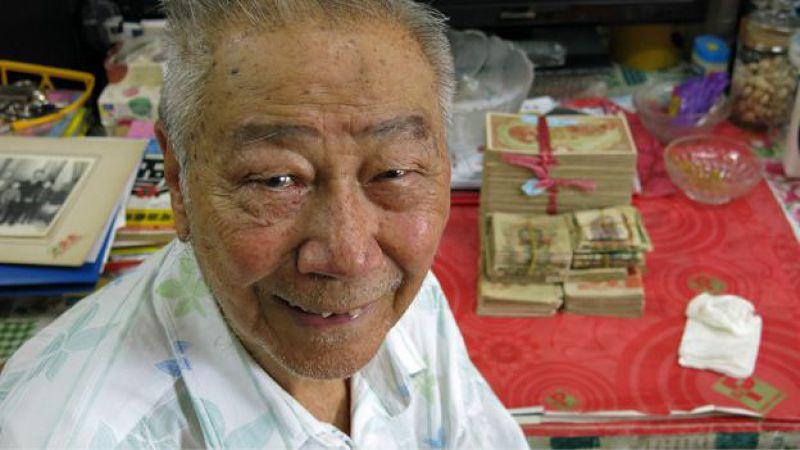 林彥斌對於自己能否看見軍票獲兌換的一天感到茫然。(BBC中文網圖片)