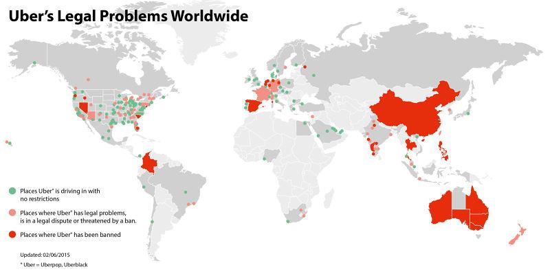 Uber挑起世界各地戰火