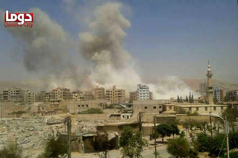 近日一份研究指出,中東國家內戰意外使空氣品質變好,引發論戰。圖為敘利亞遭砲擊。(美聯社)