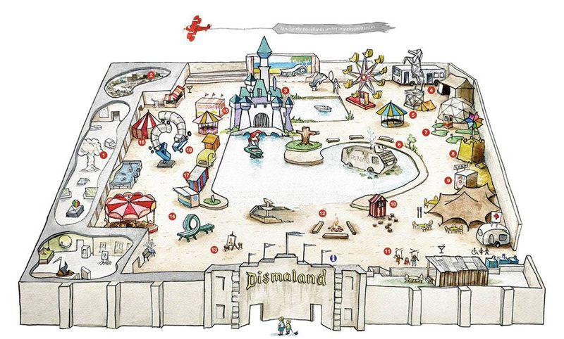 暗黑樂園的可愛地圖。(圖/取自Dismaland臉書)