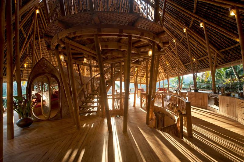用竹子打造成的舒適空間(圖/IBUKU@facebook)