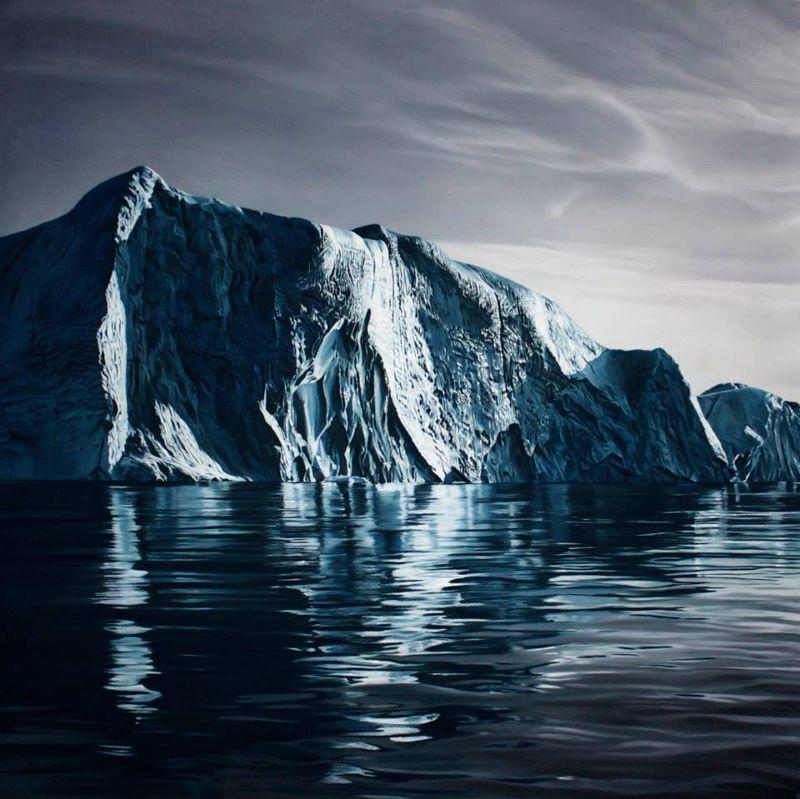 格陵蘭冰山(圖/Zaria Forman@facebook)