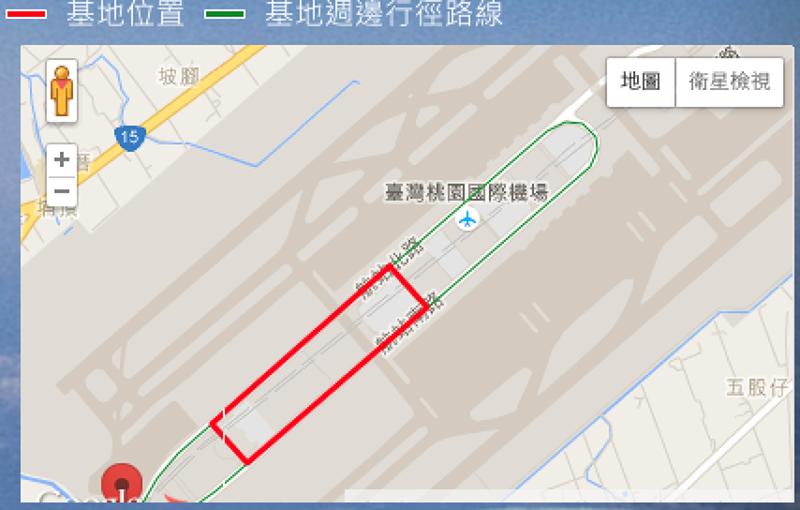 桃機第三航廈基地位置圖(取自桃機第三航廈國際競圖網站)
