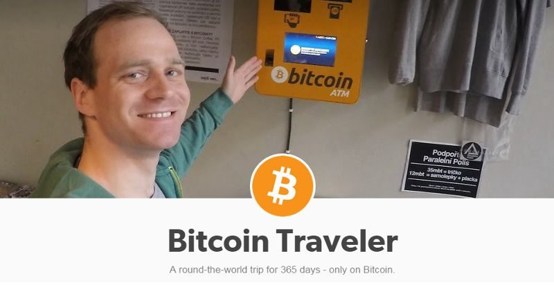 韋斯(Felix Weis)打算用比特幣(bitcoin)在1年內環遊世界(擷取自網站)。