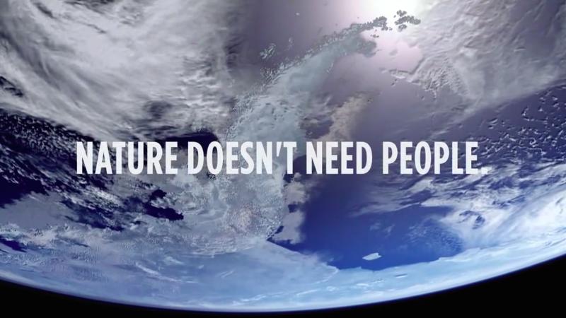 「大自然不需要人類,而人類需要大自然」每支影片的結尾,都一再提醒世人珍惜環境。(截圖取自YouTube)