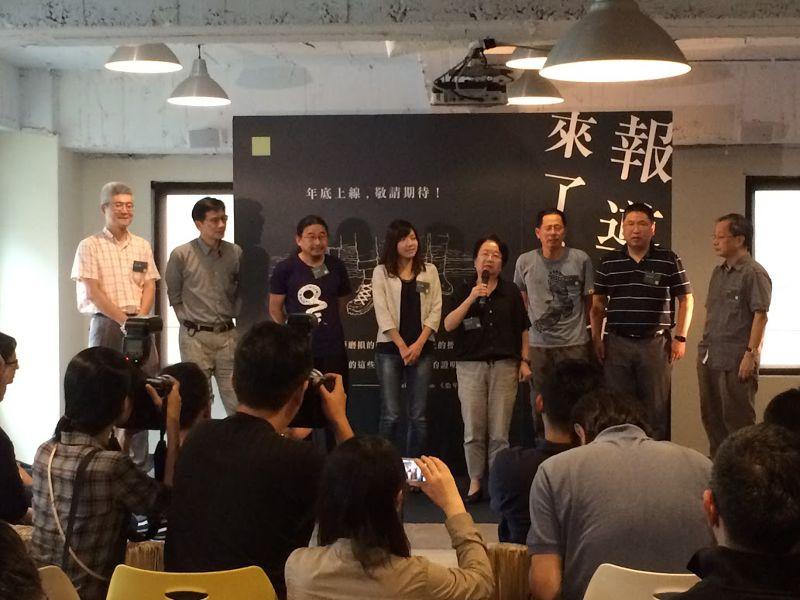 翁秀琪說:「我們會希望說一年以後可以透過榮幸跟鐵志這個團隊所生產出來的高品質內容去感動更多的人,小額或大額的捐款來支持台灣這個有理想、有品質的新媒體可以繼續走下去。」(劉致廷攝)