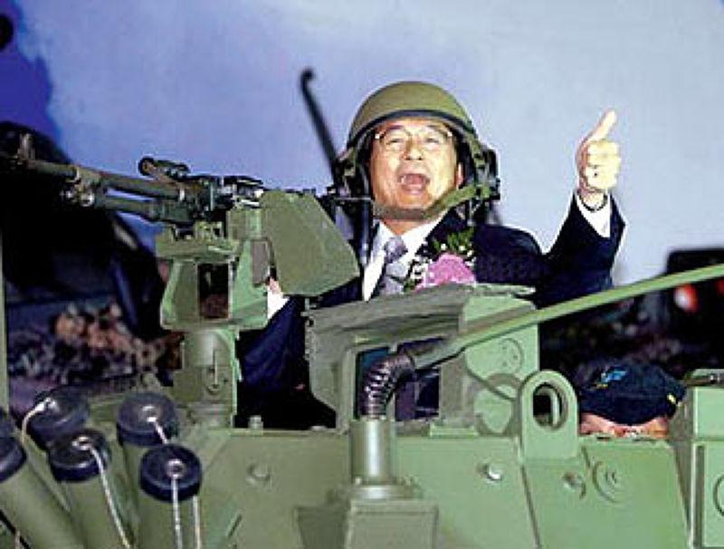 國安會主導的「年度政軍兵推」起自於2005年陳水扁總統執政時期的「玉山兵推」。(取自中評社)