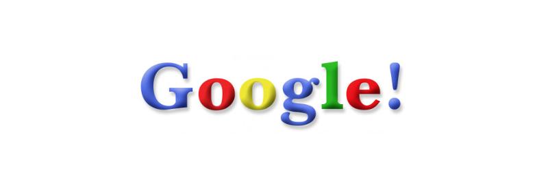 Larry Page和Sergey Brin在他們的史丹佛大學畢業專題中使用了這個標誌。(1998年)