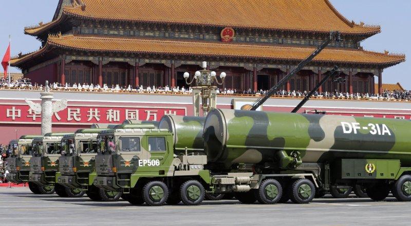 中國九三大閱兵,東風31A長程飛彈(美聯社)