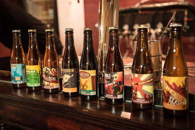 布魯塞爾Brasserie de la Senne產的修道院啤酒。(洪滋敏攝)