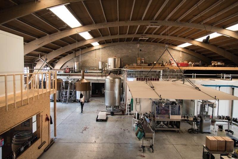 布魯塞爾Brasserie de la Senne啤酒廠一景。(洪滋敏攝)