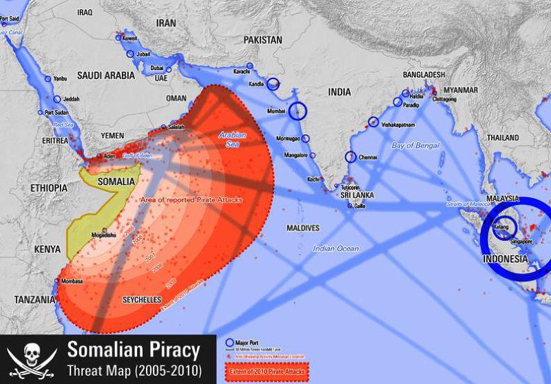 索馬利亞海盜出沒範圍圖示(維基百科)