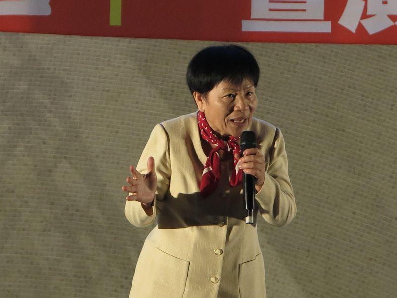 台聯立委葉津鈴在程委會發言表示,不要看不順眼就提一些法案來整人,這樣台灣政治永無寧日。(資料照,取自社會導演 - 李孟哲 社會搗偃臉書)