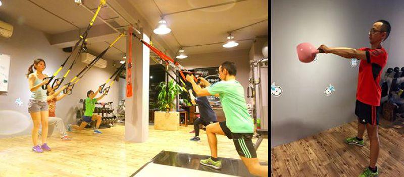 TRX與壺鈴,周宜鋒為上班族學生選擇輕便簡單的重訓器材。