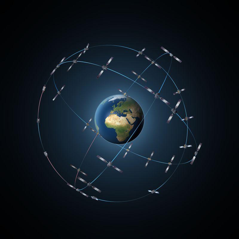 伽利略計畫預計由30顆衛星組成網絡,建立精準度更高的定位系統。(圖片來源:ESA)