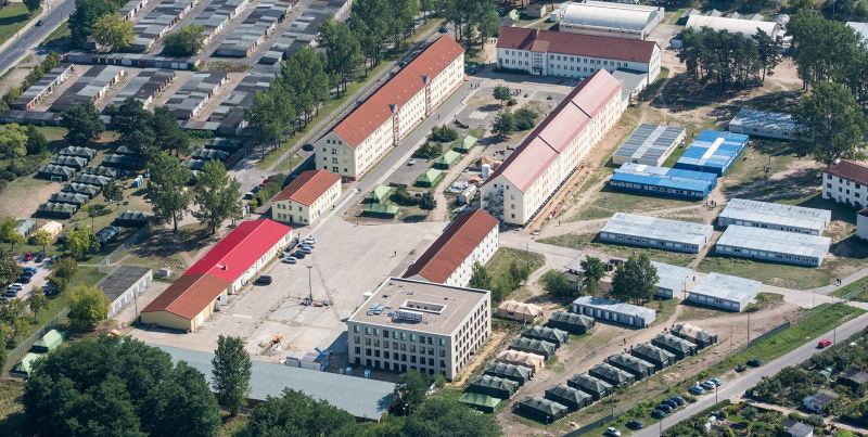德國艾森許滕斯塔特(Eisenhuettenstadt)的難民庇護所(美聯社)。