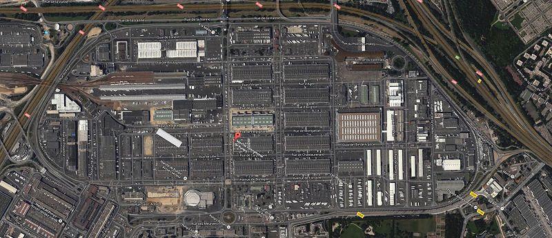Rungis Market 鳥瞰圖(摘自google map)
