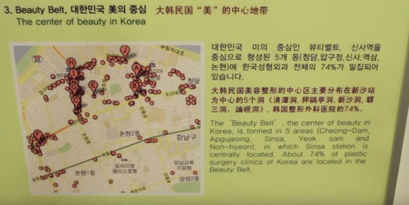 江南區密集的整形醫院。(圖/BK Plastic Surgery@facebook)