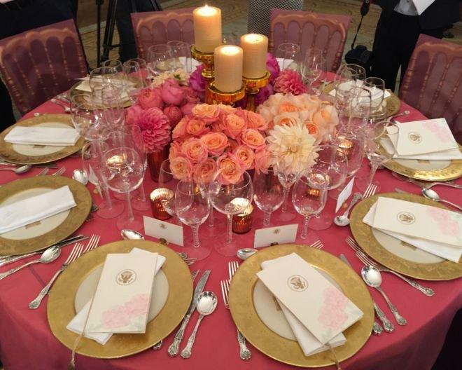 歐巴馬25日宴請習近平的菜色。(美聯社)