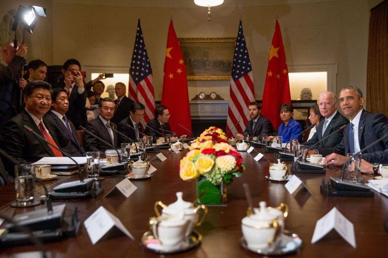 中美高峰會。(美聯社)