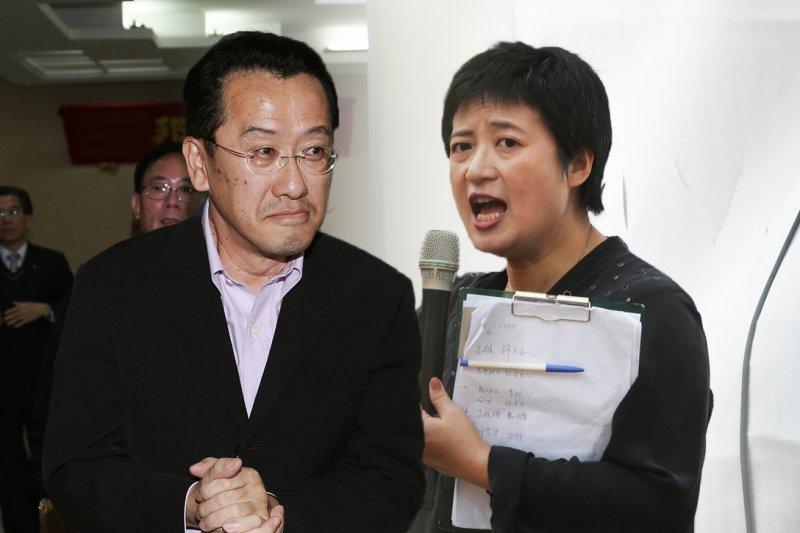 民進黨不分區立委提名,名單內與公民團體友好的顧立雄(左)及蔡培慧也是考量人選。(資料照,余志偉攝/影像合成:風傳媒)