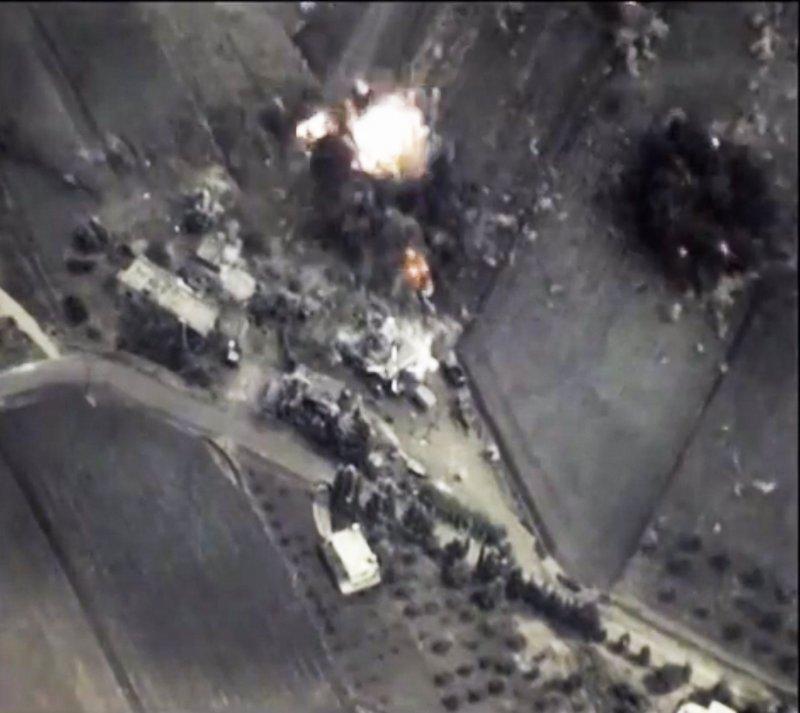俄羅斯1日持續轟炸敘利亞。(美聯社)
