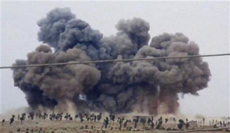 俄國週四(2日)在敘利亞連續第二天的空襲(美聯社)