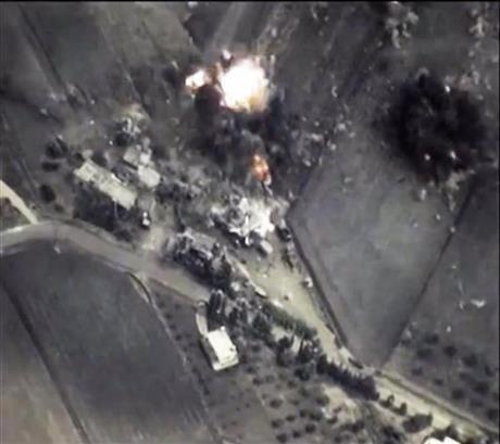 俄國在敘利亞的空襲聲稱其目標是針對IS及基地恐怖主義組織(美聯社)