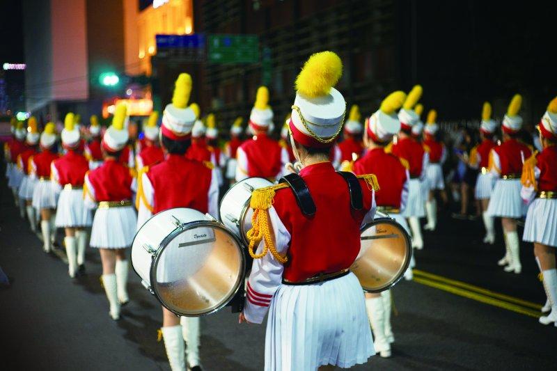 中元祭07_基隆各級學校學生,積極投入中元祭活動(林煜幃攝影)