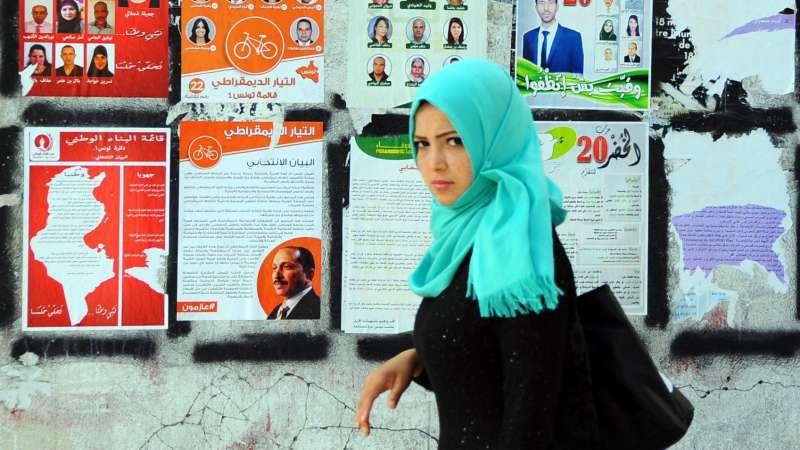 突尼西亞民眾在去年11月投票選舉總統,過程平順。(美聯社)