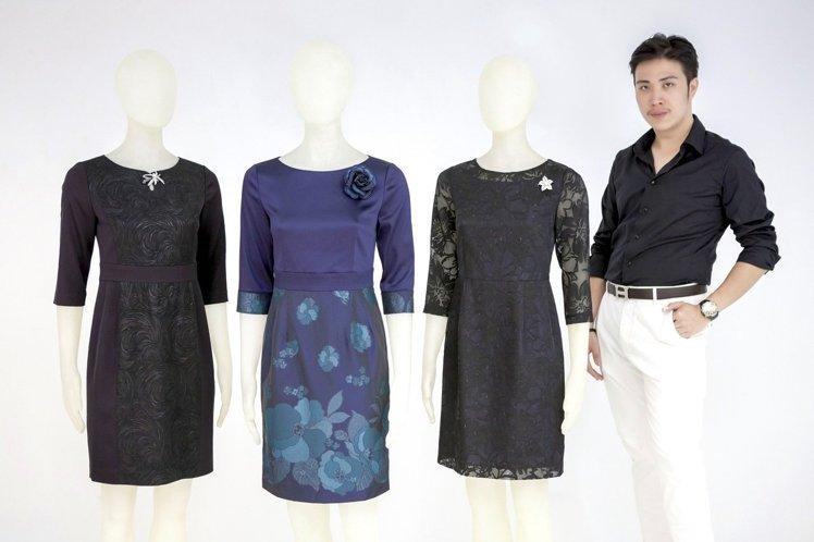 王邵宇此次為周美青特別設計了3款禮服(取自實踐大學)