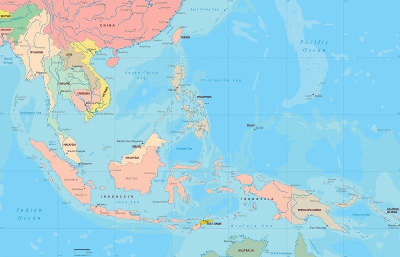 東南亞地圖(取自網路)