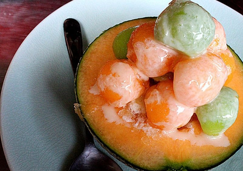 泰成水果店的哈蜜瓜冰。(花露露/愛評網)