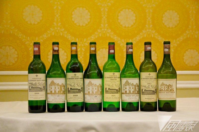 Château Haut-Brion和La Mission Haut-Brion紅酒的4個經典年份1961、1975、1989、2000 垂直品飲