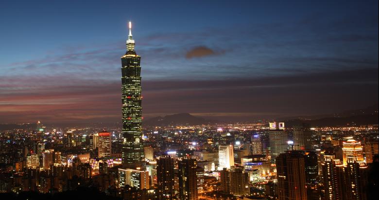 台北101極大台北夜景圖