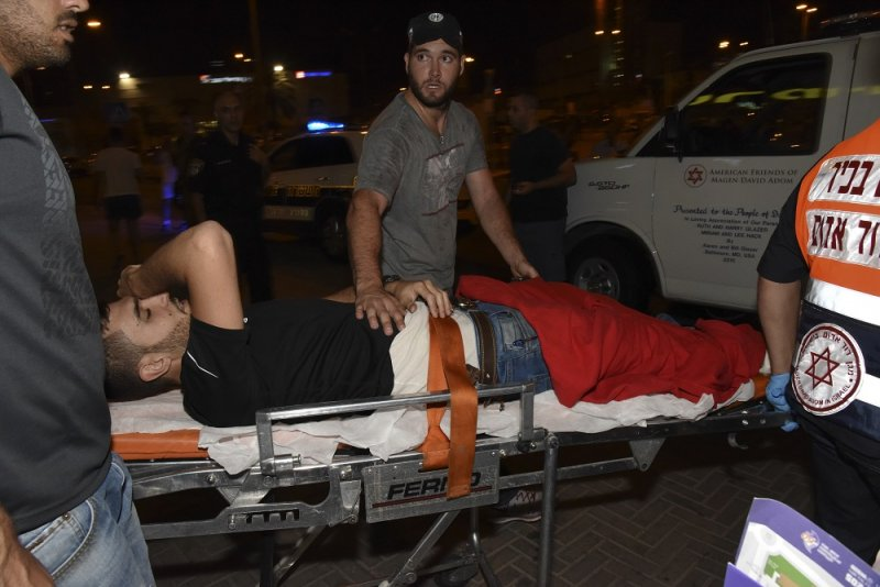 受傷的以色列警察