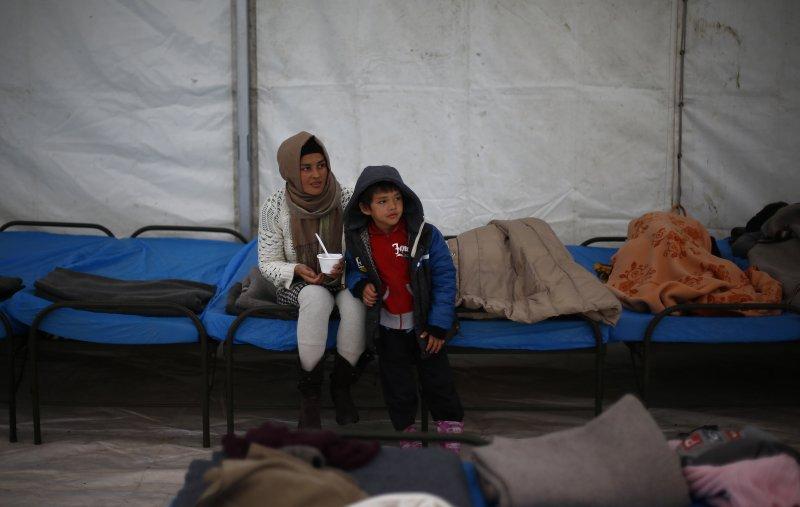德國與奧地利邊境的難民營(美聯社)