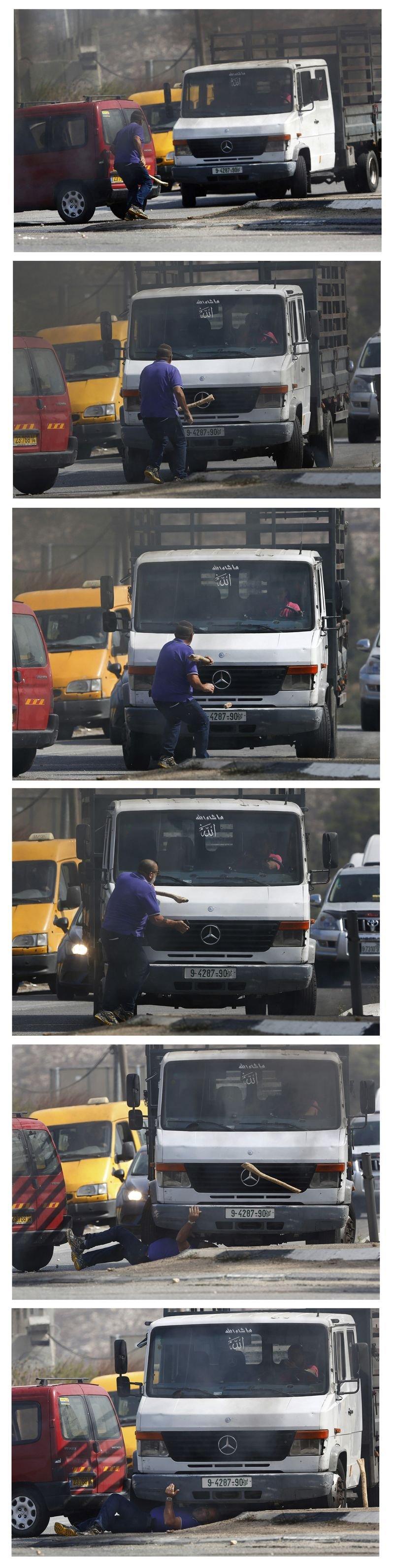 一名以色列男子與巴勒斯坦人發生衝突,當場遭巴人駕駛車輛輾過,重傷死亡(美聯社)