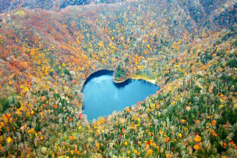 豐似湖是北海道著名的「白色戀人」巧克力廣告畫面 圖/www.hokkaidolikers.com
