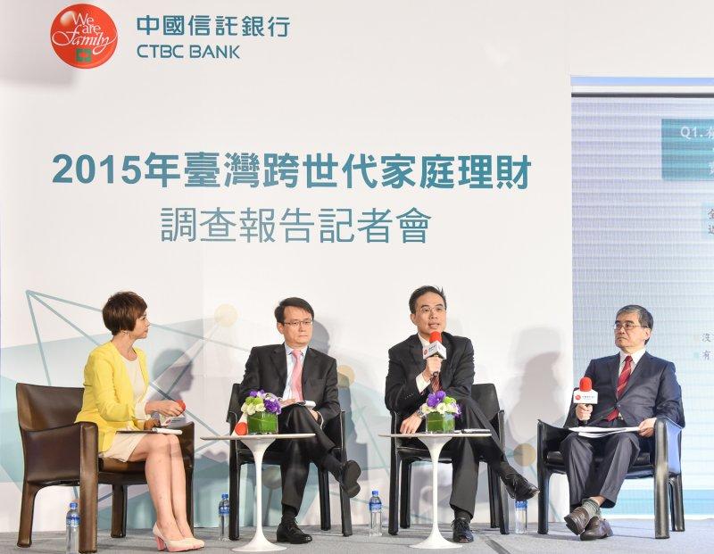 中國信託「2015年臺灣跨世代家庭理財調查」