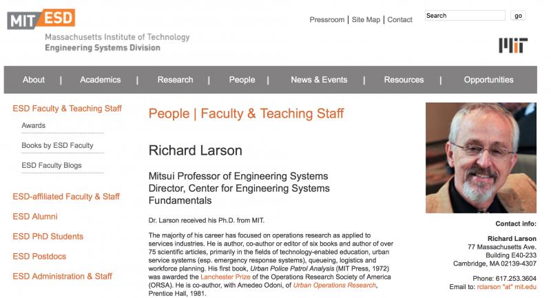 麻省理工學院的「排隊博士」拉爾森。