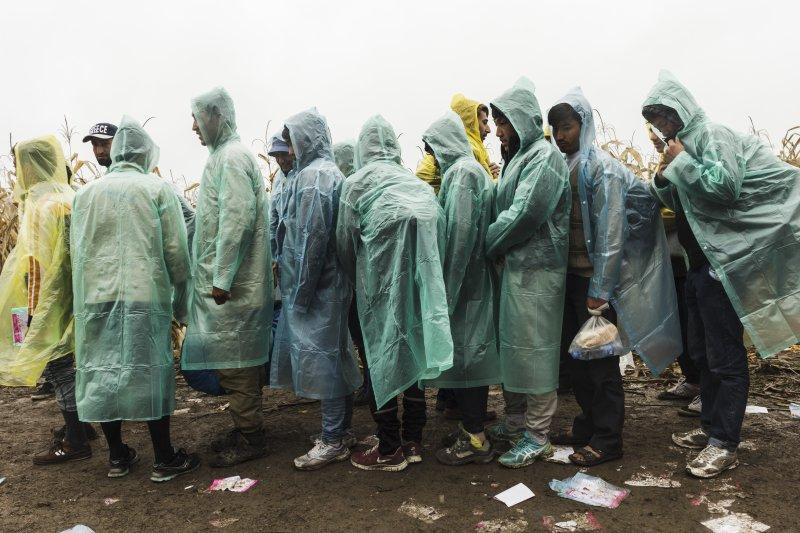 一群來自阿富汗的難民,正在等待由塞爾維亞進入克羅埃西亞。(MSF,Achilleas Zavallis)