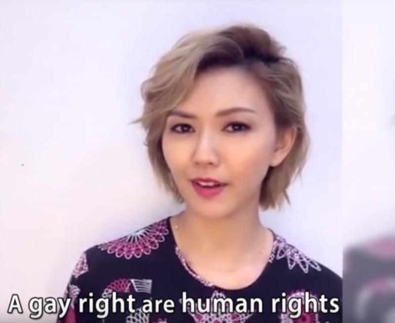 新加坡天后孫燕姿自去年為新加坡同志遊行錄製宣傳影片後,這次女同志雜誌《LEZS》也成功邀請到她來台參加31日的台北同志大遊行。(取自Youtube)